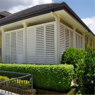 High Quality PVC Aluminum Fixed Shutter for Space Saving And Ventilation