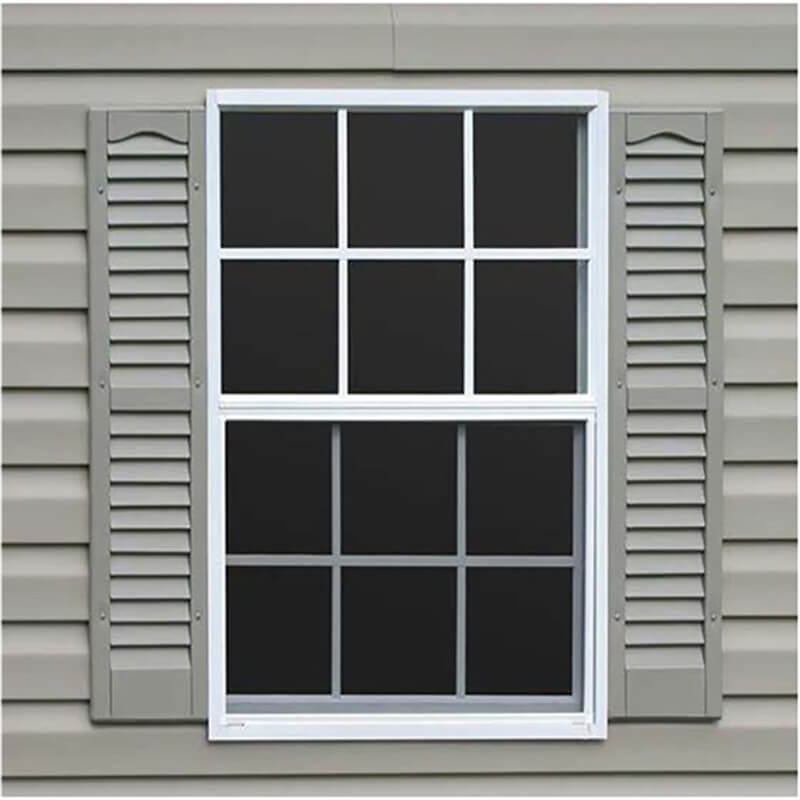 Factory-supplied Double Hanging Windows for Factory And Stairway with Tempered Glass