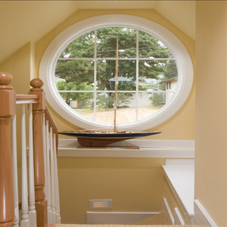 Stylish Design of Aluminum Round Fixed Window with Waterproof And Soundproofing