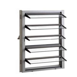 Aluminium Frame High Quality Price of Glass Louver Jalousie Window